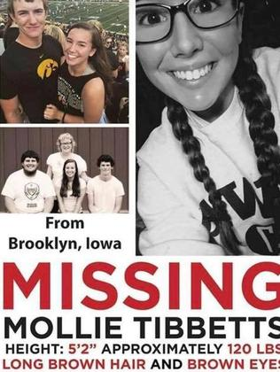 A Facebook page has been set up for missing student Mollie Tibbetts.