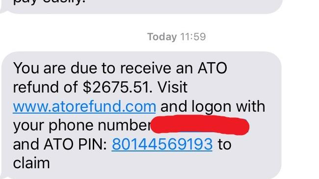 ATO text scam, spoofing: How to spot a fake ATO text