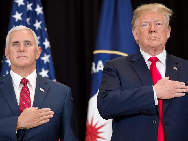 US President Donald Trump and US Vice President Mike Pence. Picture: AFP