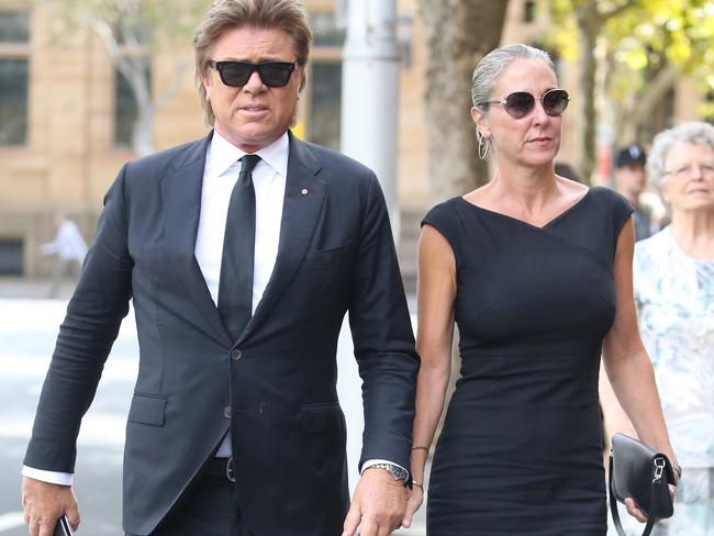 Mike Willesee's former Nine colleague Richard Wilkins and girlfriend Virginia Burmeister. Picture: John Grainger