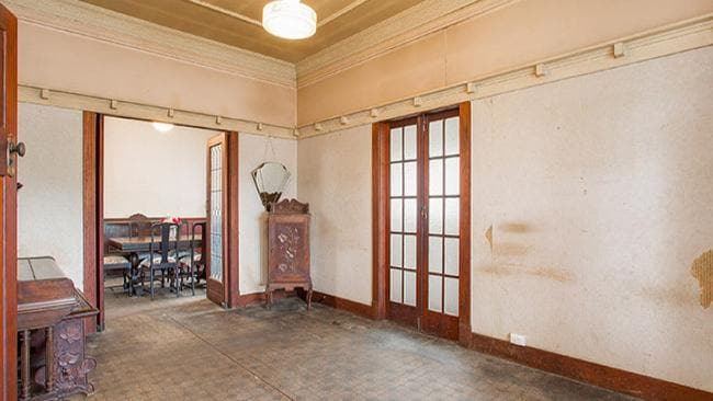 The home at 56 Grange Rd, Grange has its original wood panelling and 1930s wallpaper. Picture: realestate.com.au