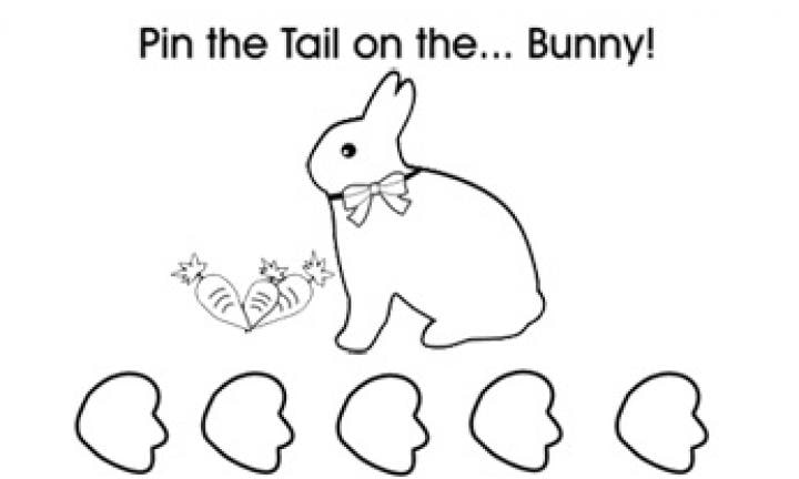 image about Pin the Tail on the Bunny Printable identified as Pin the tail upon the Easter bunny: Absolutely free printable - Kidspot