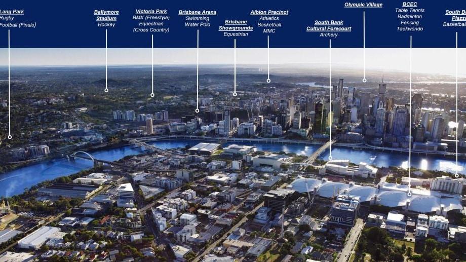 The venue masterplan for Brisbane's 2032 Olympic Games bid.