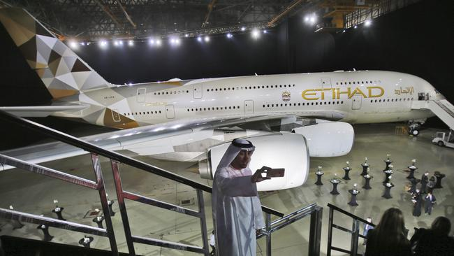 Etihad has cut unprofitable routes, including to Perth. Picture: AP Photo/Kamran Jebreili.