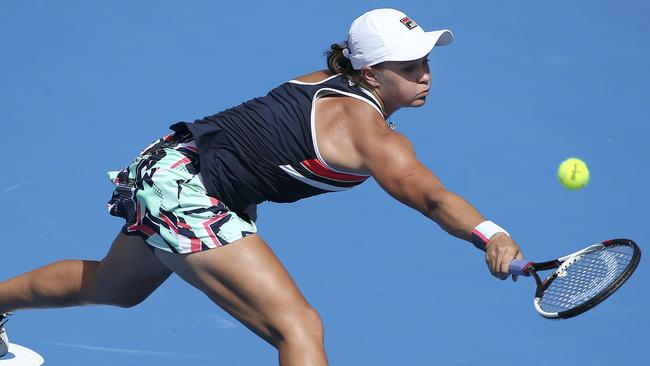 Australia's Ash Barty in action in the final.