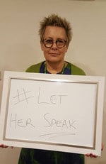 People get behind the #LetHerSpeak campaign.