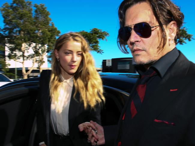 Johnny Depp and Amber Heard split in May this year. Picture: AFP/Patrick Hamilton
