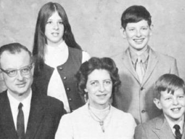 The List family in a photograph taken in 1971 — the same year John List (left) carried out the murders