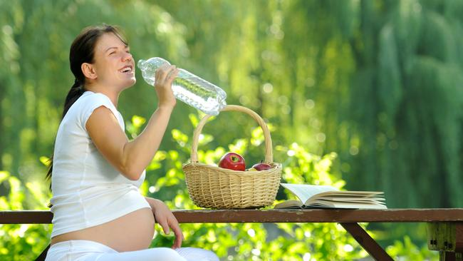 Expectant mums should make sure they stay well hydrated at all times by drinking at least 2 litres of water a day, experts reveal.