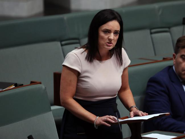 Emma Husar stood up after Question Time in the House of Representatives and defended her reputation after she was defamed by a media outlet. Picture: Gary Ramage