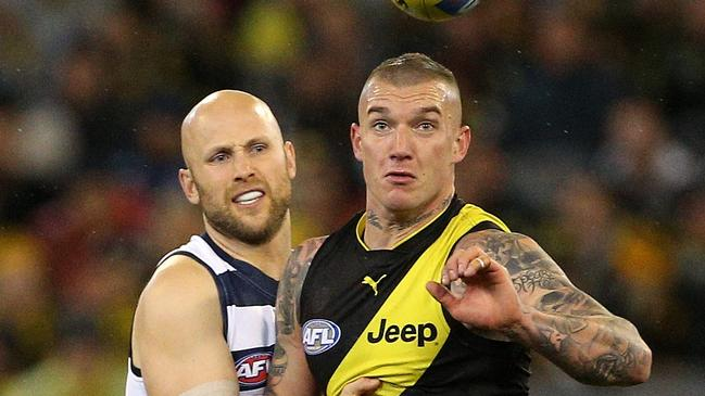 Gary Ablett and Dustin Martin will face off in a preliminary final.