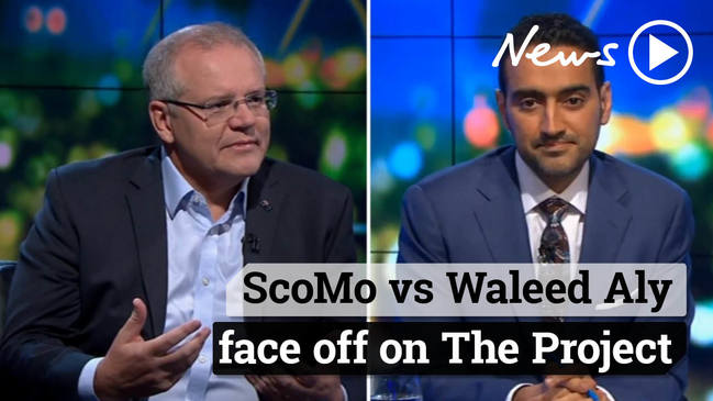 Scott Morrison and Waleed Aly face off on The Project