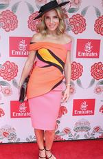 Elsa Pataky (aka Chris Hemsworth's wife) is seen at the Emirates tent at the 2016 Melbourne Cup. Picture: Julie Kiriacoudis