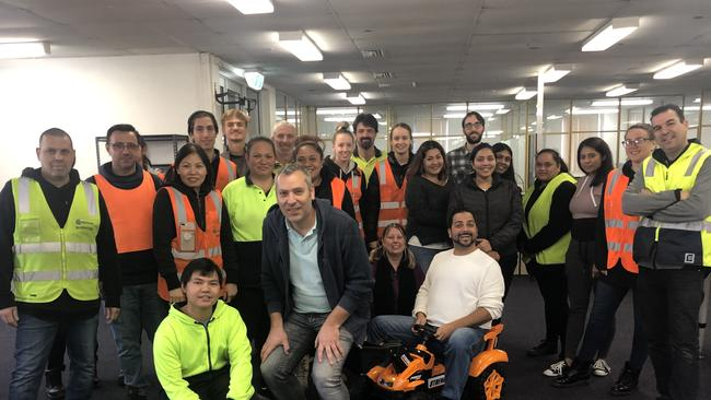 Members of the KG Electronics team in Melbourne.