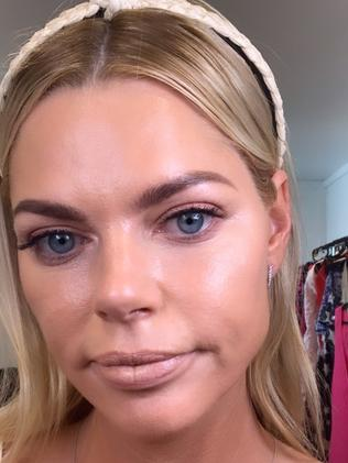 The Love Island star shared a beauty tutorial with fans revealing the $20 trick behind her volumous pout. Picture: Supplied