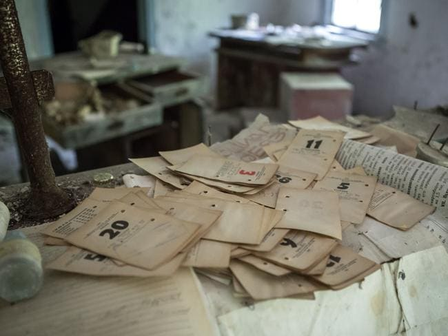 Stacks of dusty paperwork are visible across the region. Picture: Erwin Zwaan