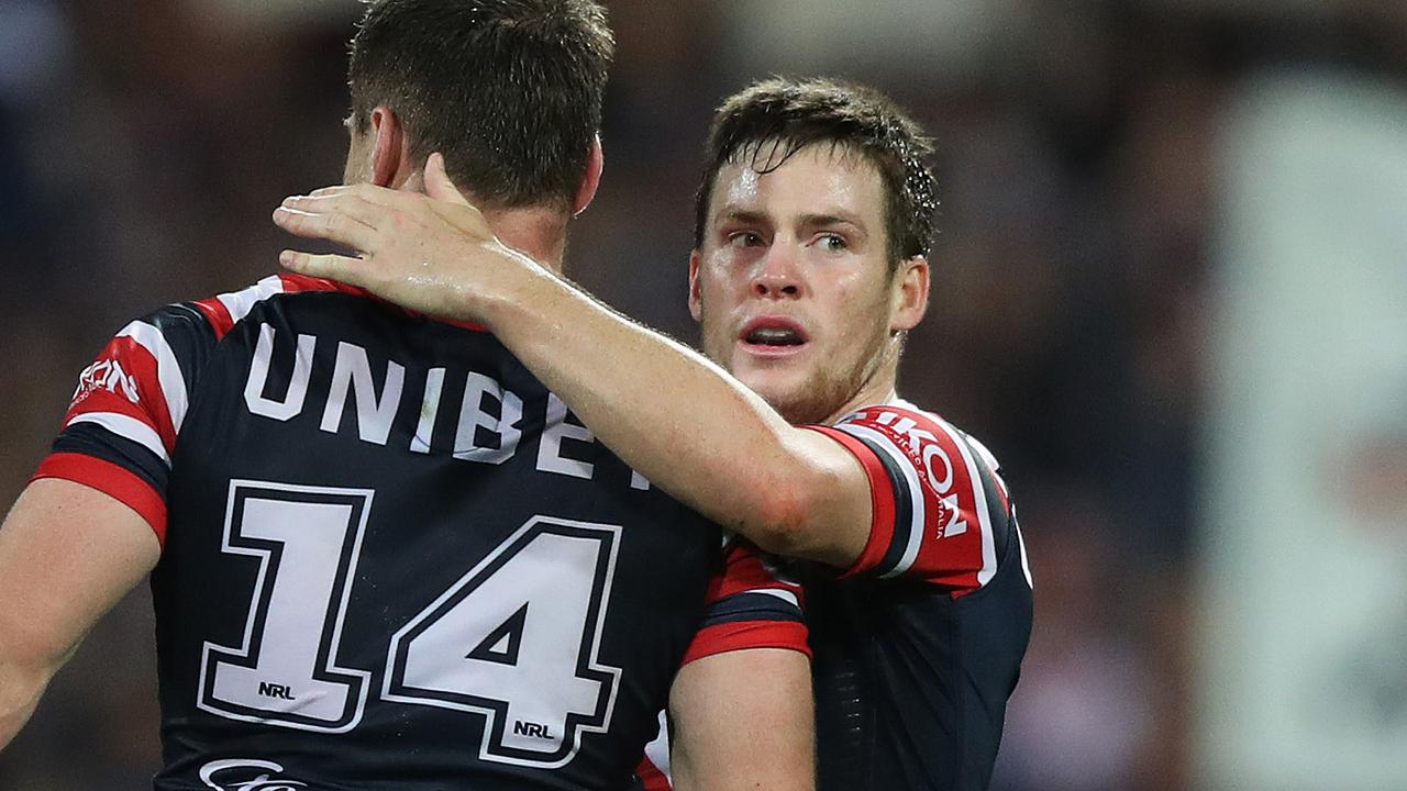 Roosters star Luke Keary was sensational against the Rabbitohs in the qualifying final. Picture: Brett Costello