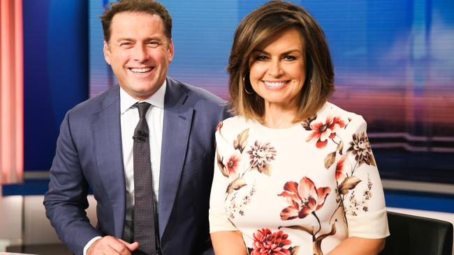 Karl Stefanovic and Lisa Wilkinson hosting the Today show.