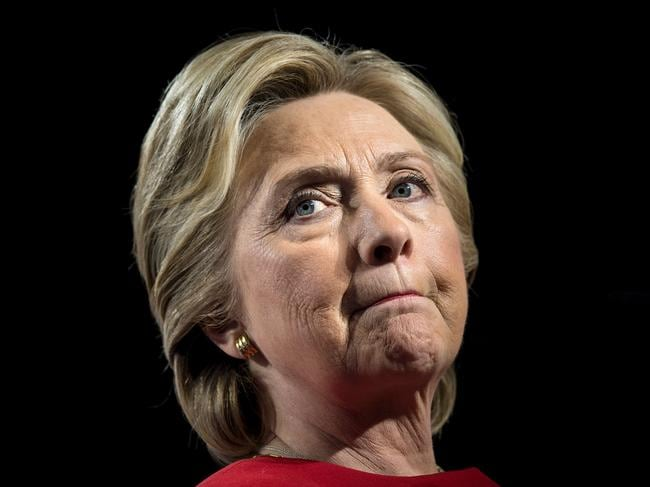 A study showed that Democratic presidential nominee Hillary Clinton was under attack via social media platforms. Picture: AFP