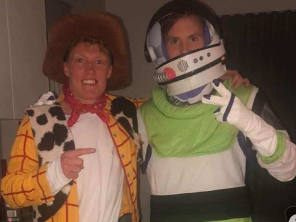Matt Rowell as Woody and Noah Anderson as Buzz Lightyear. Picture: @rowelly19