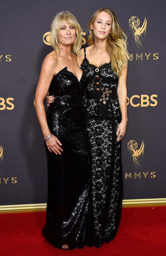 Robin Wright and Dylan Penn attend the 69th Annual Primetime Emmy Awards.
