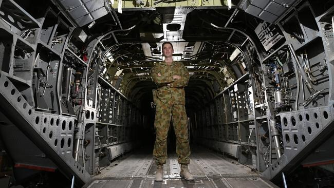 The Commanding Officer of the Rotary Wing Task Group, Tyron de Boer, is responsible for getting the Chinooks back to Australia now that they have completed their flying missions in Afghanistan. Picture: Gary Ramage