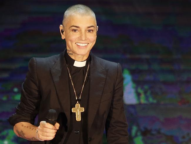 This 2014 file photo shows Irish singer Sinead O'Connor performing in Italy. Picture: AP