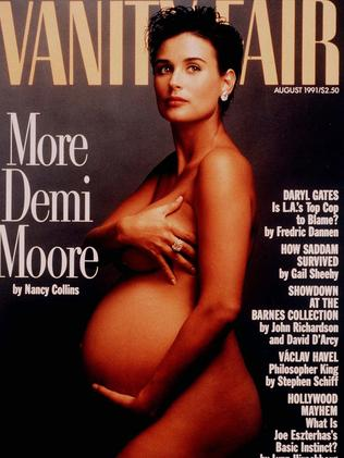 Demi Moore's iconic 1991 Vanity Fair cover. Picture: AP