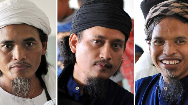 Bali bombers ... Amrozi, Mukhlas and Imam Samudra were shot by firing squad in late 2008. Picture: AFP.
