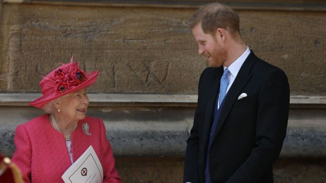 Prince Harry took time off caring for Baby Sussex to attend the wedding. Image: Getty Images.