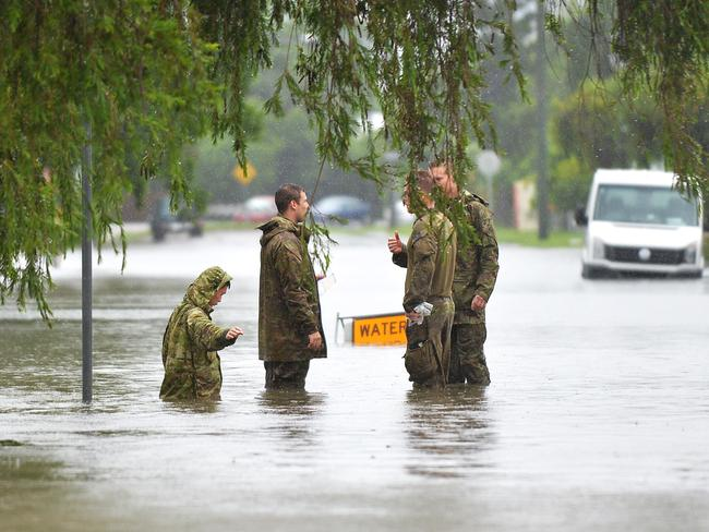 Army soldiers have assisted overnight. Picture: Alix Sweeney