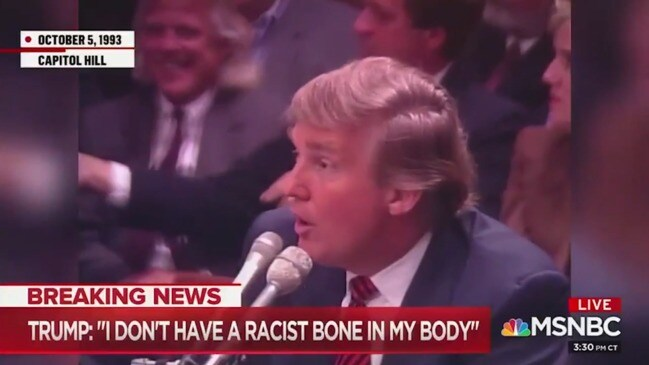 Shock video from 1993 comes back to haunt Trump as he insists he's not racist (NBC)