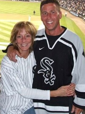 Eric Huska, 58, and his deceased wife Laura. Picture: Facebook