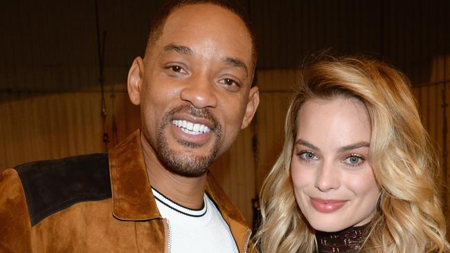 Will Smith and Aussie co-star Margot Robbie appeared to strike up a tight friendship. Picture: Jeff Kravitz/FilmMagic