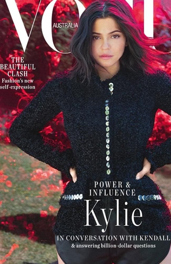 Kylie Jenner stars on the September 2018 cover of Vogue Australia. Picture: Vogue