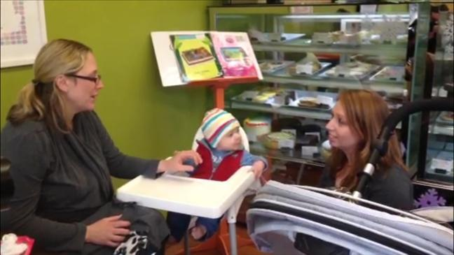 Cafe welcomes breastfeeding mothers and noisy children