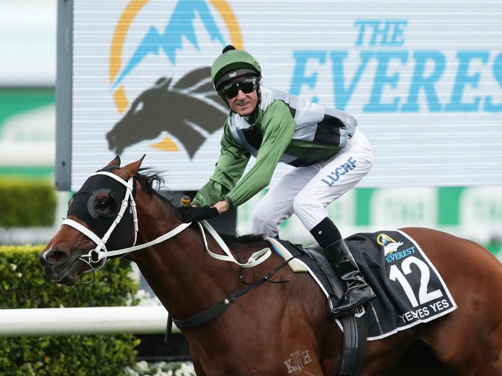 Glen Boss rode Yes Yes Yes to victory in The Everest, claiming victory in Australia's richest race