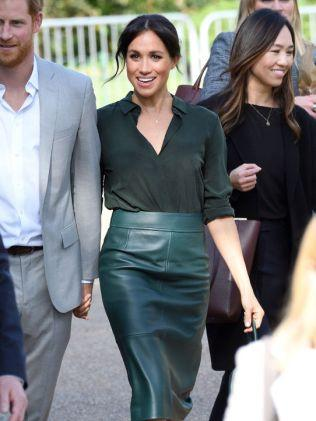 Green is totally Meghan's colour. Picture: Karwai Tang/WireImage. Source: Getty Images