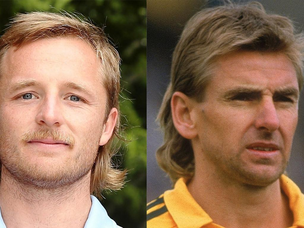 Rhyan Grant and John Kosmina with mullets