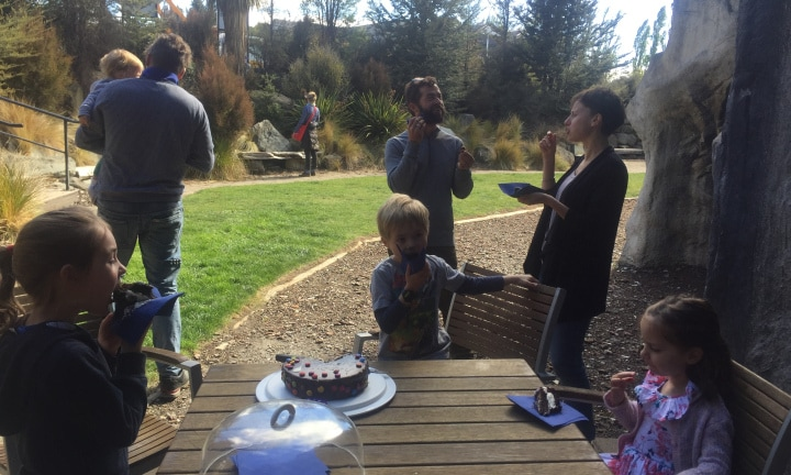 Felix celebrated his 6th birthday with friends and chocolate cake in Wanaka, NZ.