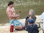Nick 'Honey Badger' Cummins' first date as The Bachelor. Picture: Diimex