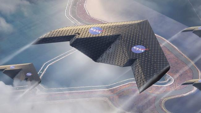 NASA and MIT researchers just released their new aeroplane wing design concept this week. Picture: Eli Gershenfel