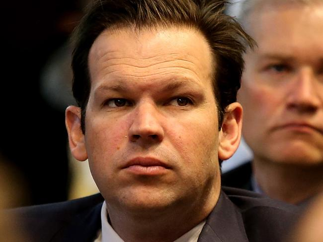 """Stood-aside minister Matt Canavan says those complaining about what is being said during the debate should """"grow a spine"""". Picture Kym Smith"""