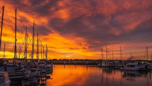REAL ESTATE: Sunset over the marina at Scarborough.
