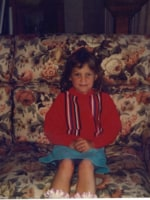 Nina at four years old in the late eighties.