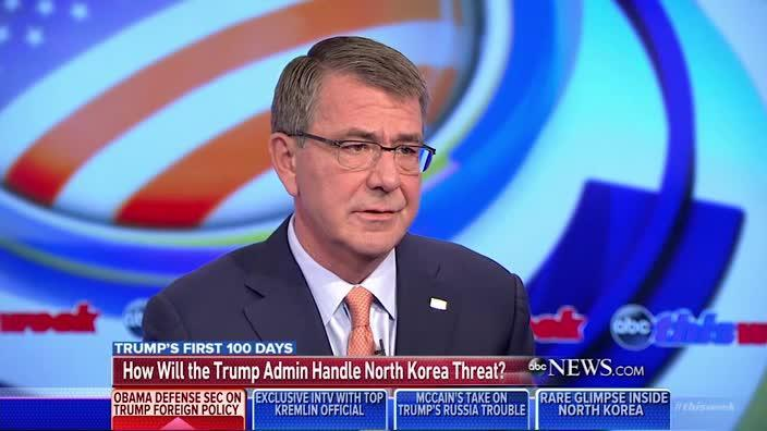 Former US Defense secretary confident that a Korean war would 'be the defeat of North Korea'