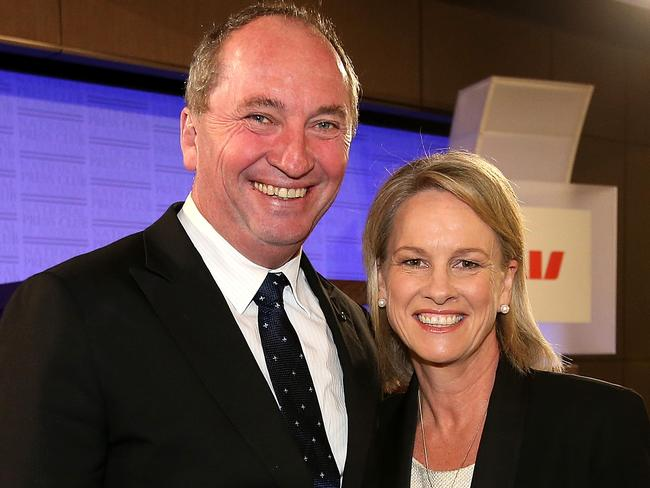 Deputy PM and Nationals Leader Barnaby Joyce and Senator Fiona Nash, Deputy Leader of The Nationals, have both been forced out of Parliament. Picture: Kym Smith