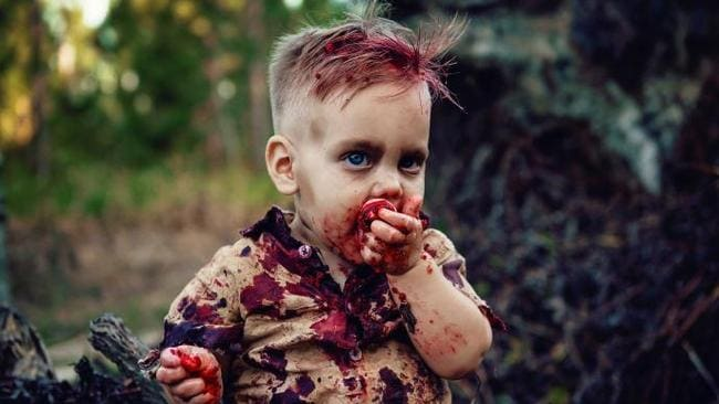 Amy and Gary refer to their boy as their Zombie baby. Source: Amanda Queen Photography