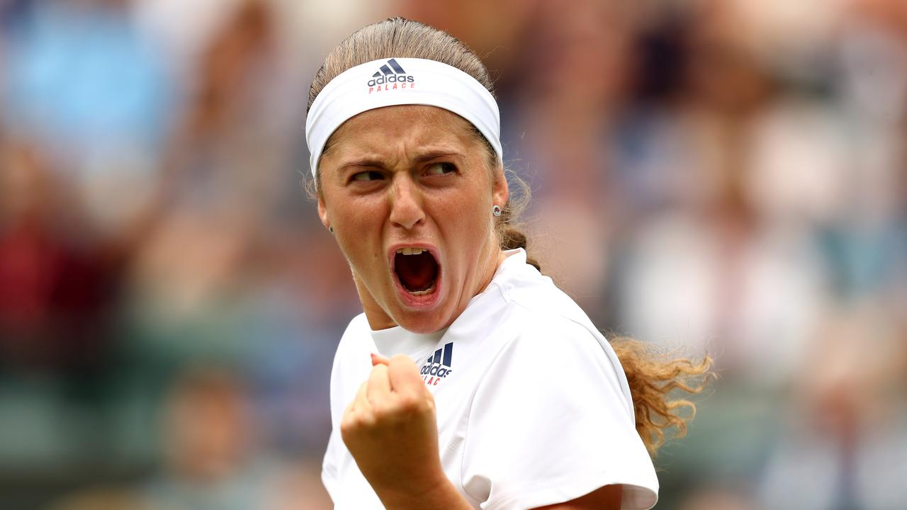 Jelena Ostapenko will face Dominika Cibulkova in the other semi-final.