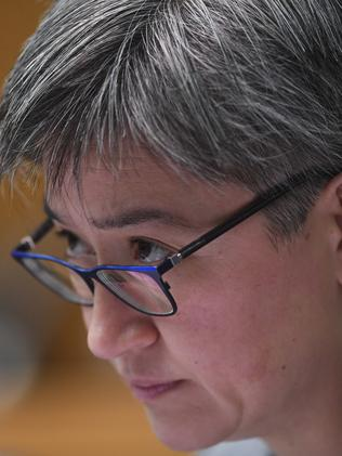 Senator Penny Wong questions General Campbell. Picture: AAP Image/Lukas Coch